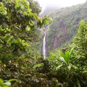 Vue chutes du Carbet Guadeloupe