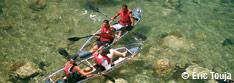 Kayak à fond de verre, Guadeloupe