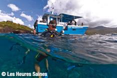 Dossier plongée : baptême plongée avec les Heures Saines