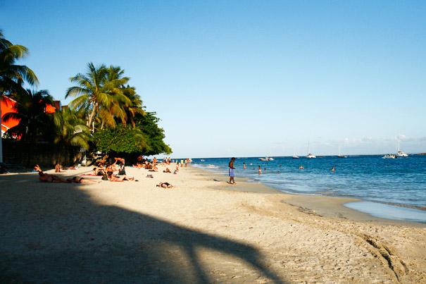 La plage de la Datcha à Gosier