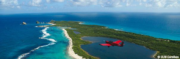 ULM Caraïbes, survol des îles de Guadeloupe