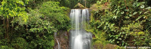 Saut des trois cornes Sainte-Rose Guadeloupe