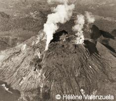 Observation volcan  la Soufrière Guadeloupe